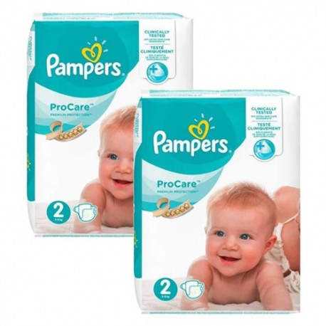 Pampers - Pack jumeaux 504 Couches ProCare Premium protection taille 2 sur Couches Poupon