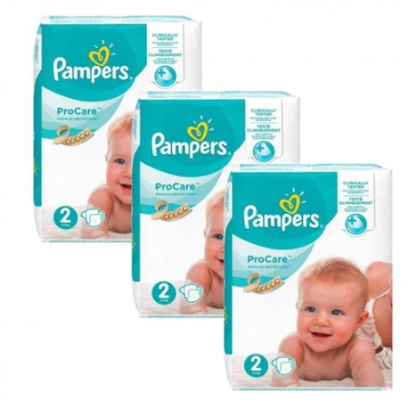 Pampers - Pack jumeaux 576 Couches ProCare Premium protection taille 2 sur Couches Poupon