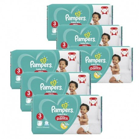 Pampers - Maxi giga pack 338 Couches Baby Dry Pants taille 3 sur Couches Poupon
