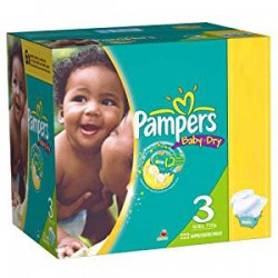 Pampers - Maxi giga pack 380 Couches Baby Dry taille 3 sur Couches Poupon