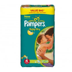 Pampers - Pack jumeaux 858 Couches Baby Dry taille 4 sur Couches Poupon