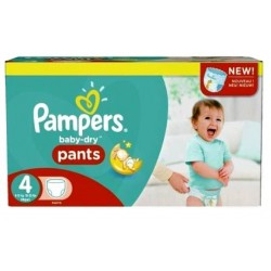 Pampers - Maxi mega pack 437 Couches Baby Dry Pants taille 4 sur Couches Poupon