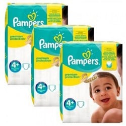 Pampers - Maxi mega pack 483 Couches New Baby Premium Protection taille 4+ sur Couches Poupon
