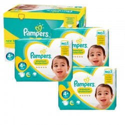 Pampers - Pack jumeaux 609 Couches New Baby Premium Protection taille 4+ sur Couches Poupon