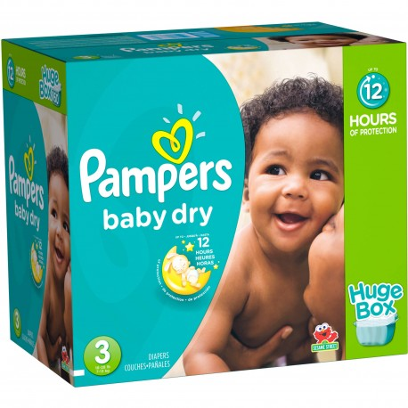 Pampers - Maxi mega pack 456 Couches Baby Dry taille 3 sur Couches Poupon