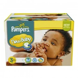 Pampers - Mega pack 105 Couches New Baby Premium Protection taille 3 sur Couches Poupon