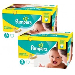 Pampers - Giga pack 245 Couches New Baby Premium Protection taille 3 sur Couches Poupon