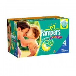 Pampers - Pack 68 Couches Baby Dry taille 4 sur Couches Poupon