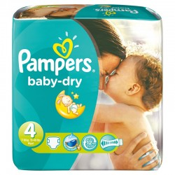 Pampers - Mega pack 102 Couches Baby Dry taille 4 sur Couches Poupon