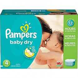 Pampers - Giga pack 204 Couches Baby Dry taille 4 sur Couches Poupon