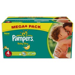 Pampers - Giga pack 238 Couches Baby Dry taille 4 sur Couches Poupon