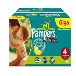 Pampers - Maxi giga pack 374 Couches Baby Dry taille 4
