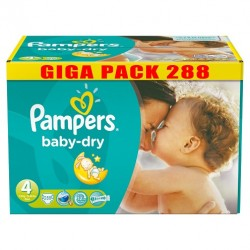 Pampers - Pack jumeaux 544 Couches Baby Dry taille 4