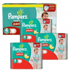 Pampers - Pack 80 Couches Baby Dry Pants taille 4 sur Couches Poupon