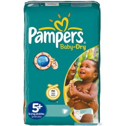 Pampers - Pack 22 Couches Baby Dry taille 5+ sur Couches Poupon