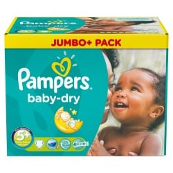 Pampers - Mega pack 154 Couches Baby Dry taille 5+ sur Couches Poupon