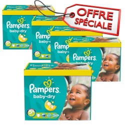 Pampers - Giga pack 286 Couches Baby Dry taille 5+ sur Couches Poupon