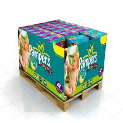 Pampers - Maxi mega pack 400 Couches Baby Dry taille 4+ sur Couches Poupon