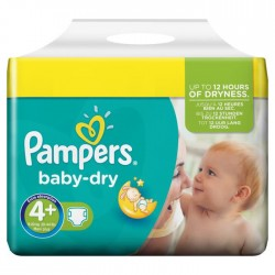 Pampers - Pack jumeaux 640 Couches Baby Dry taille 4+ sur Couches Poupon