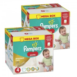 Pampers - Mega pack 132 Couches Premium Care Pants taille 4 sur Couches Poupon