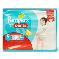Pampers - Pack 42 Couches Baby Dry Pants taille 5 sur Couches Poupon