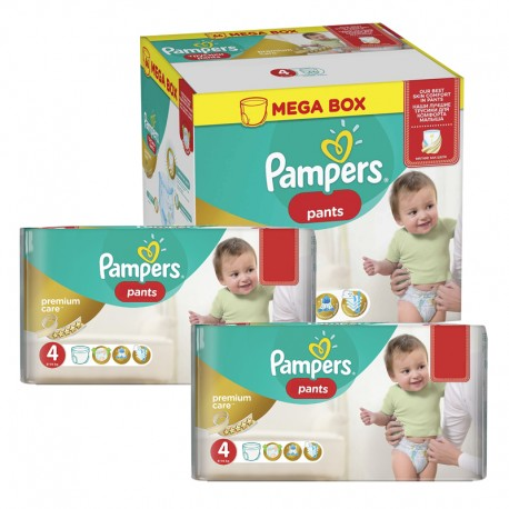 Pampers - Giga pack 264 Couches Premium Care Pants taille 4 sur Couches Poupon