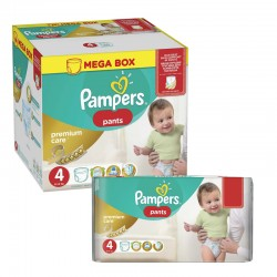 Pampers - Maxi giga pack 396 Couches Premium Care Pants taille 4