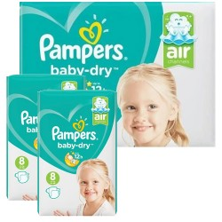 Pampers - Pack 60 Couches Baby Dry taille 8 sur Couches Poupon