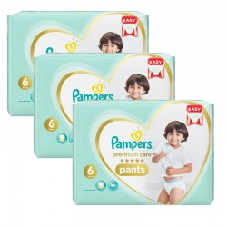Pampers - Pack 72 Couches Premium Care Pants taille 6 sur Couches Poupon