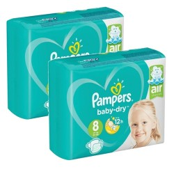 Pampers - Mega pack 120 Couches Baby Dry taille 8 sur Couches Poupon