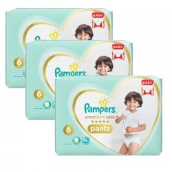 Pampers - Mega pack 144 Couches Premium Care Pants taille 6 sur Couches Poupon