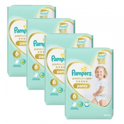 Pampers - Giga pack 216 Couches Premium Care Pants taille 6 sur Couches Poupon