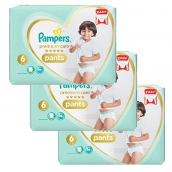 Pampers - Giga pack 252 Couches Premium Care Pants taille 6 sur Couches Poupon