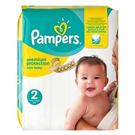 Pack 80 Couches Pampers New Baby Premium Protection taille 2 sur Couches Poupon