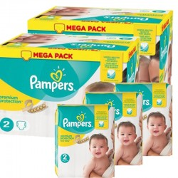 160 Couches Pampers New Baby Premium Protection taille 2 sur Couches Poupon