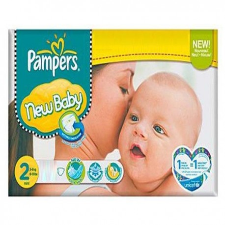 Pampers - Maxi mega pack 400 Couches New Baby taille 2 sur Couches Poupon