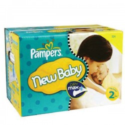 Pampers - Maxi mega pack 480 Couches New Baby taille 2 sur Couches Poupon