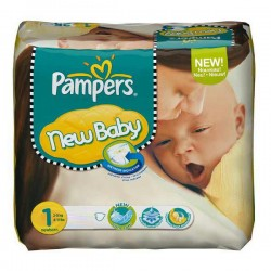 New Baby - 74 Couches de Pampers taille 1 sur Couches Poupon
