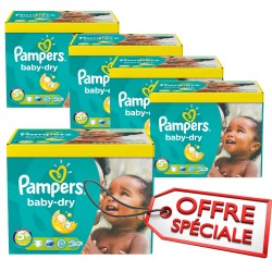 Pampers - Maxi giga pack 340 Couches Baby Dry taille 5+ sur Couches Poupon