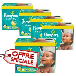 Pampers - Giga pack 272 Couches Baby Dry taille 5+ sur Couches Poupon