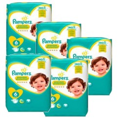 Pampers - Giga pack 224 Couches New Baby Premium Protection taille 6 sur Couches Poupon