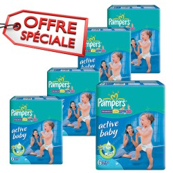 Pampers - Mega pack 168 Couches Active Baby Dry taille 6 sur Couches Poupon