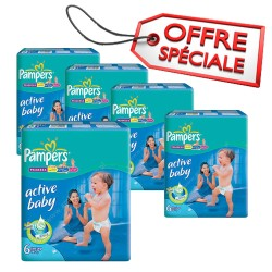 Pampers - Giga pack 294 Couches Active Baby Dry taille 6 sur Couches Poupon