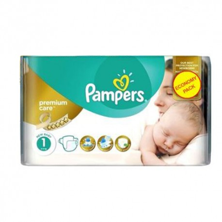 Pampers - Pack 22 Couches New Baby Premium Care taille 1 sur Couches Poupon