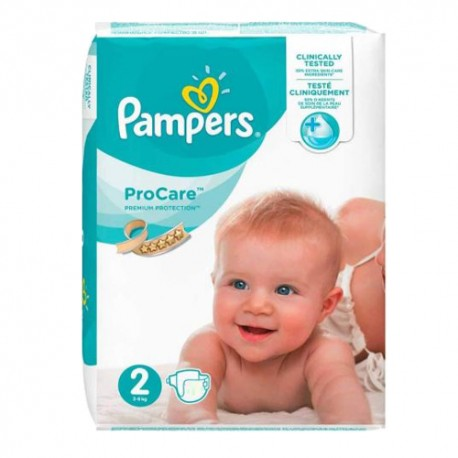 Pampers - Pack 36 Couches ProCare Premium protection taille 2 sur Couches Poupon