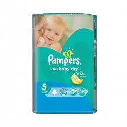 Pampers - Pack 11 Couches Active Baby Dry taille 5 sur Couches Poupon