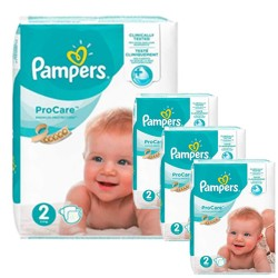 Pampers - Mega pack 144 Couches ProCare Premium protection taille 2 sur Couches Poupon