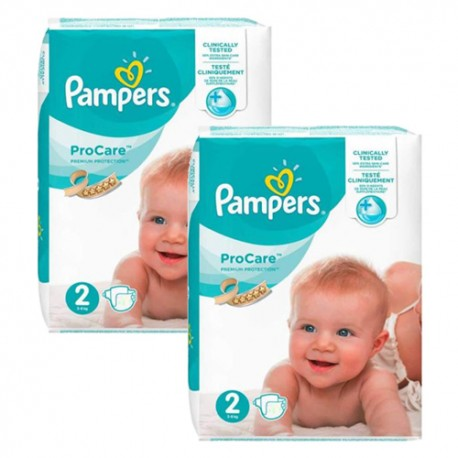 Pampers - Giga pack 216 Couches ProCare Premium protection taille 2 sur Couches Poupon