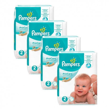 Pampers - Maxi giga pack 396 Couches ProCare Premium protection taille 2 sur Couches Poupon