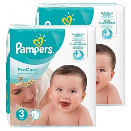 Pampers - Mega pack 128 Couches ProCare Premium protection taille 3 sur Couches Poupon